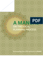 A Manual on the Local Planning Process (Formulating the CDP and ELA in ARMM)