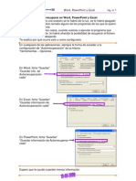 Autoguardar en Word, PowerPoint y Excel
