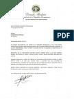 Carta de condolencias del presidente Danilo Medina a Cindy Hensley McCain por fallecimiento de su esposo, el senador John McCain