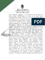 Veredicto y Sentencia al juez en lo Contencioso y Administrativo Luis Federico Arias