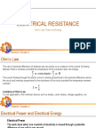 Electrical Resistance Lecture 2