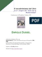 DUSSEL, Enrique - El Encubrimiento Del Otro. Hacia El Origen Del Mito de La Modernidad