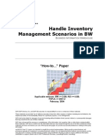 How to Handle Inventory Management Scenarios in BW