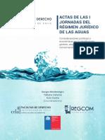 Actas de Las I Jornadas Del Régimen Jurídico de Las Aguas
