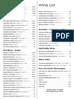 Doppio Zero SF Wine List
