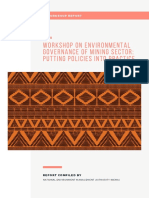 Kwale Workshop Report on Environmental Governance of the Mining Sector