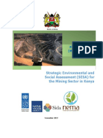 Strategic Environmental and Social Assessment (SESA) of the Mining Sector in Kenya