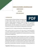 Analisis - Ley Marco de Autonomias y Descentralicación