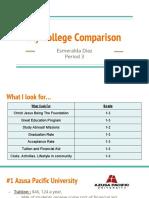 esmeralda dia college comparison