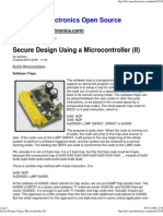 Secure Design Using a Microcontroller (II)