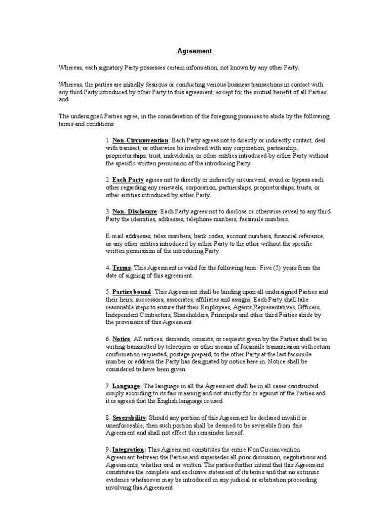 Agreement Ncnd Arbitration Government Information
