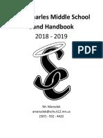 middle school band handbook - google docs