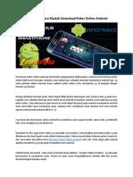 Bagaimana Cara Mudah Download Poker Online Android