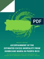 Acertainment of the Estimated Excess Mortality From Hurricane Maria in Puerto Rico/  Estimado Exceso Mortalidad Huracán María