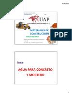 6. Presentacion Agua Concreto y Morteros