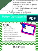 patton curriculum night - wegley  2018   1