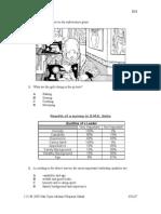 Percubaan PMR Sabah 2009 - Bahasa Inggeris Kertas 1