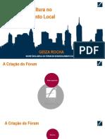 O Papel da Cultura no Desenvolvimento Local -  Geiza Rocha