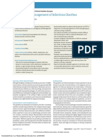 Diagnosis and Management of Infectious Diarrhea