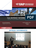 1._Matrices y Determinantes Algebra Lineal UAP 2018