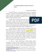 A Região Metropolitana de Manaus. Povos Indígenas e Seus Processos de Territorialização Sociocultural 20.09.17