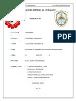 INFORME N° 03 - METODOS DE SOLUCIÓN (ECUACIONES DIFERENCIALES)