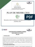 Plan de Mejora Direccion Departamental de Atlantida 2018