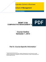 MGMT2106 Comparative Management Systems S12012