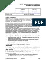 MST 530 Strategic Management Planning