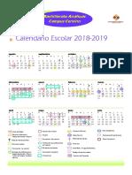 Calendario Padres de Familia Bachillerato 2018-2019
