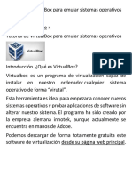 Tutorial de VirtualBox Para Emular Sistemas Operativos V2