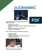 Qué Es El Insomnio PDF GRATIS.