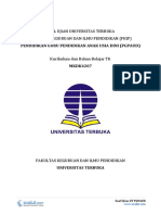 Download Soal Ujian UT PGPAUD PAUD4207 Kurikulum Dan Bahan Belajar TK