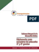 Fundamentos de la Reforma Diplomado para 2° y 5°