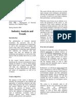 Syllabus Industry Analysis