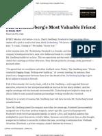 Mark Zuckerberg's Most Valuable Friend - NYTimes