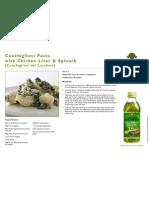 Conchiglioni Pasta With Chicken Liver and Spinach