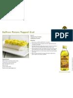 Saffron Potato Topped Cod