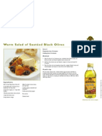Warm Salad of Sauteed Black Olives