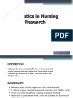 Statistics in Nursing Research