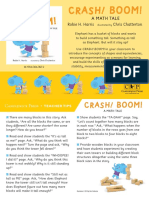CRASH! BOOM! A Math Tale Teacher Tip Card