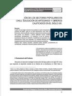 La moralización de los sectores populares en Chile. Educación de artesanos y obreros calificados en el siglo XIX