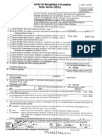 Prosperity Alliance tax exemption application