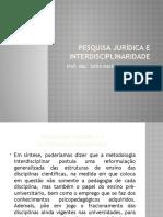 Pesquisa Juridica e Interdisciplinaridade 2