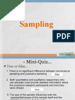 Sampling Questions