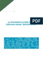 Estudio  La Sociedad en Red 2009 Informe Anual Edicion 2010 SEPT2010 ONTSI