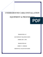 Underground Cable Installation