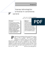Utilizarea Tehnologiilor In Format Ice in Consilierea Carierei