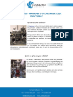 FAQS AOÛT 2018 - MACHINES D'OCCASION EN ACIER INOXYDABLE