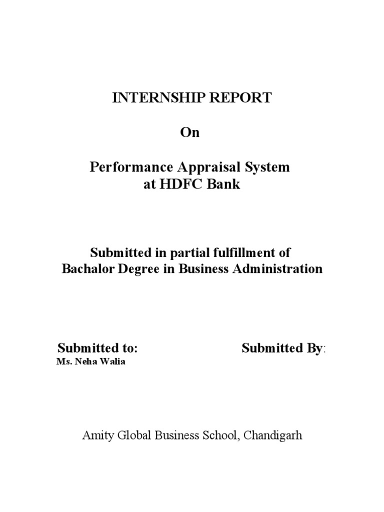 hdfc bank selection recruitment and performance appraisal